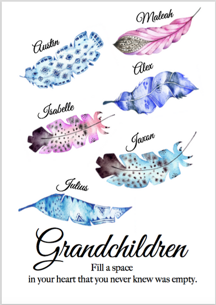 Grandchildren feather print PDF ONLY
