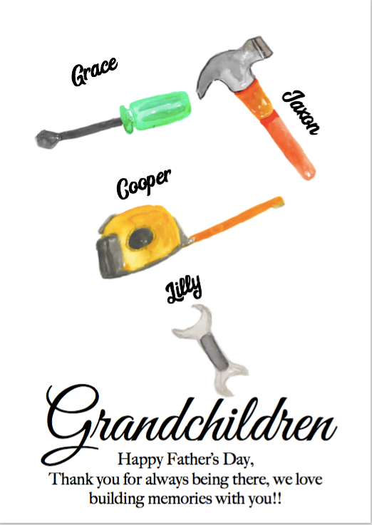 Grandchildren tools print a4 PDF ONLY
