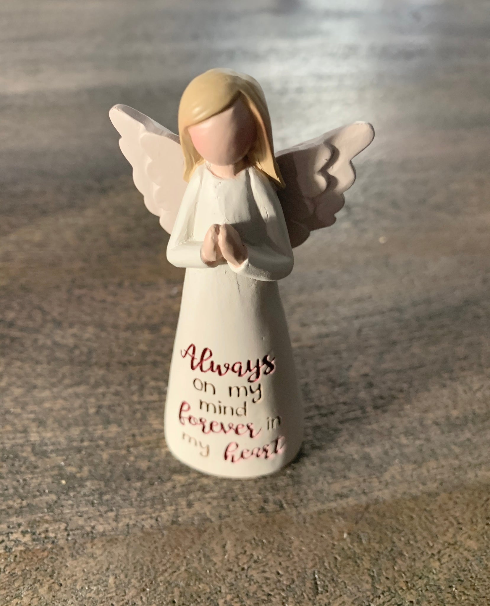 Angelic blessing always on my mind figurine