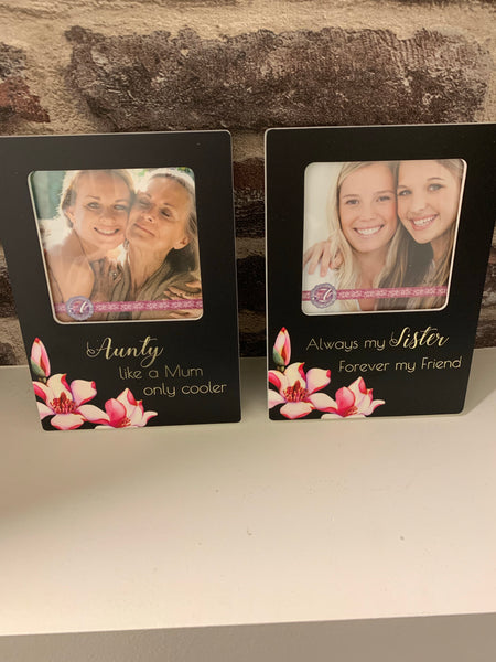 Aunty or sister picture frame