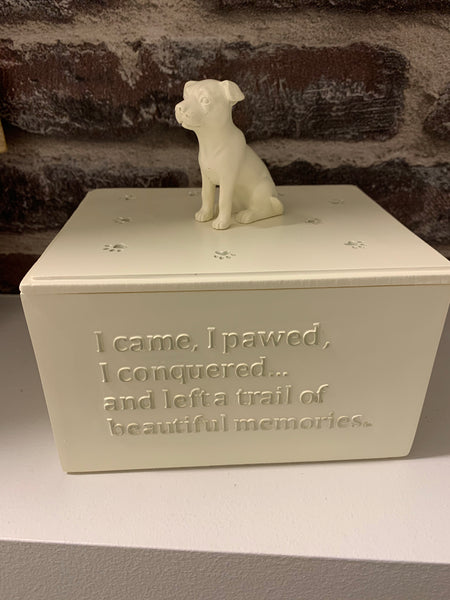Furry friend dog urn