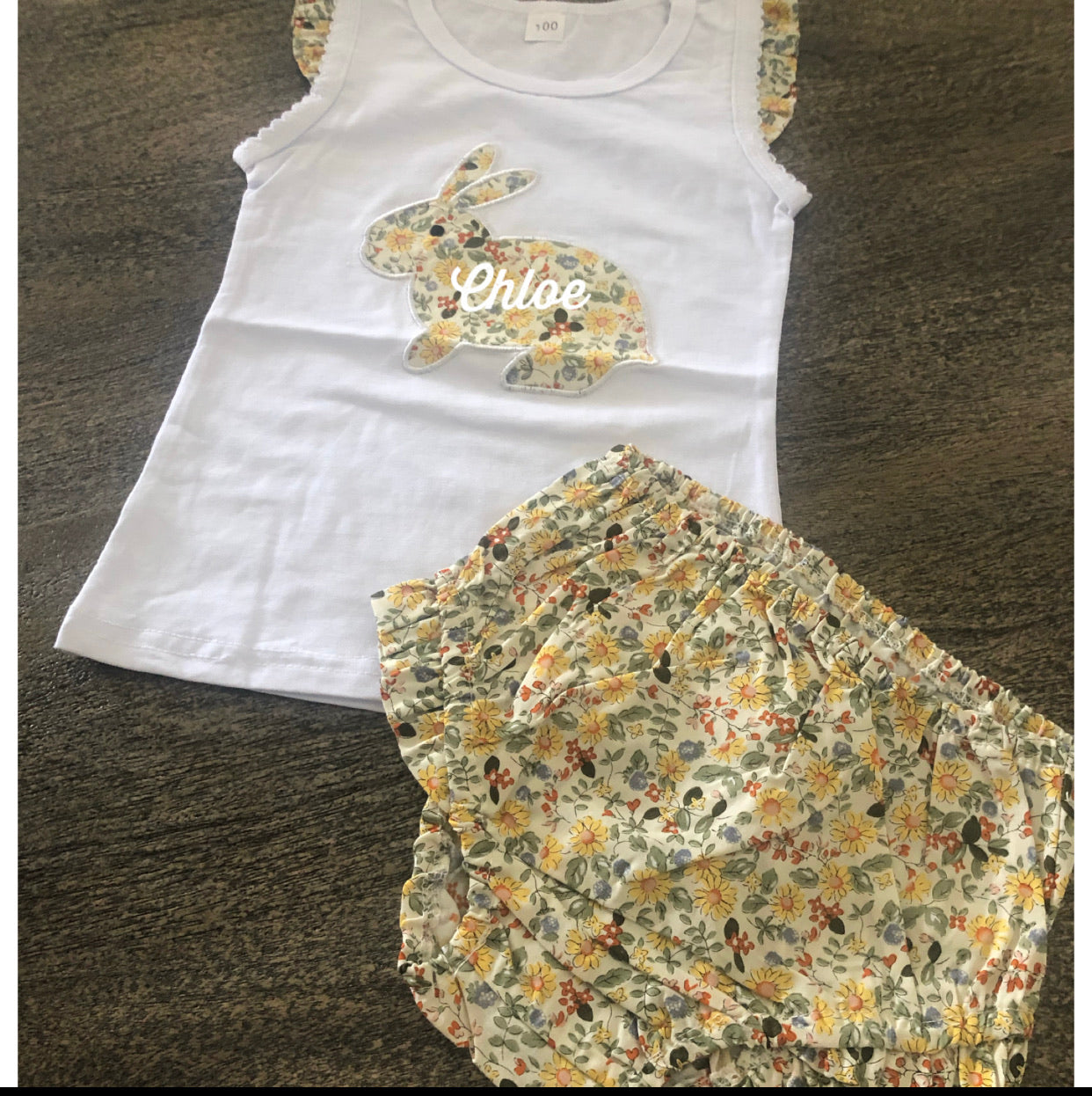 Singlet and bloomer bunny set