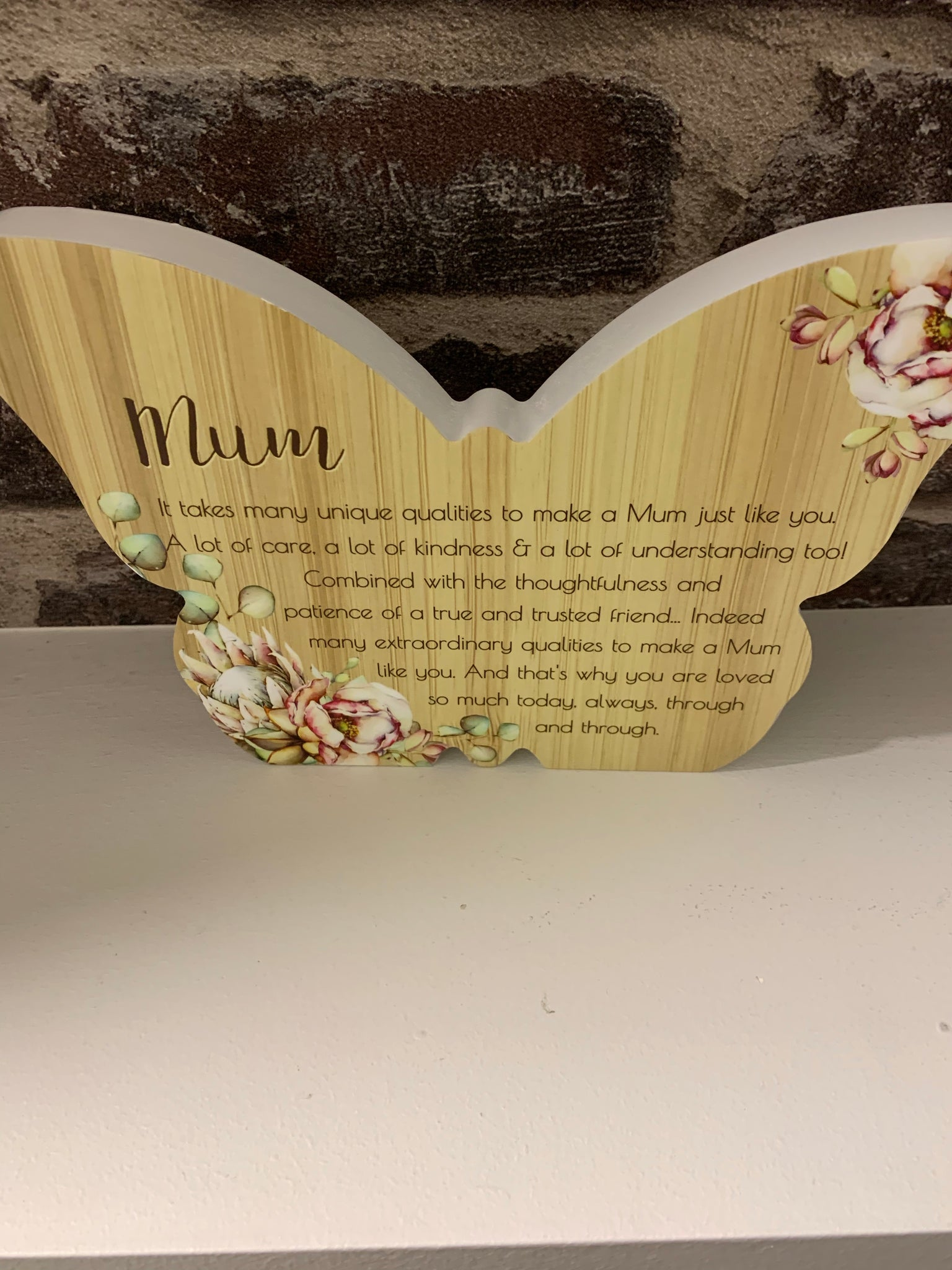 Mum butterfly plaque