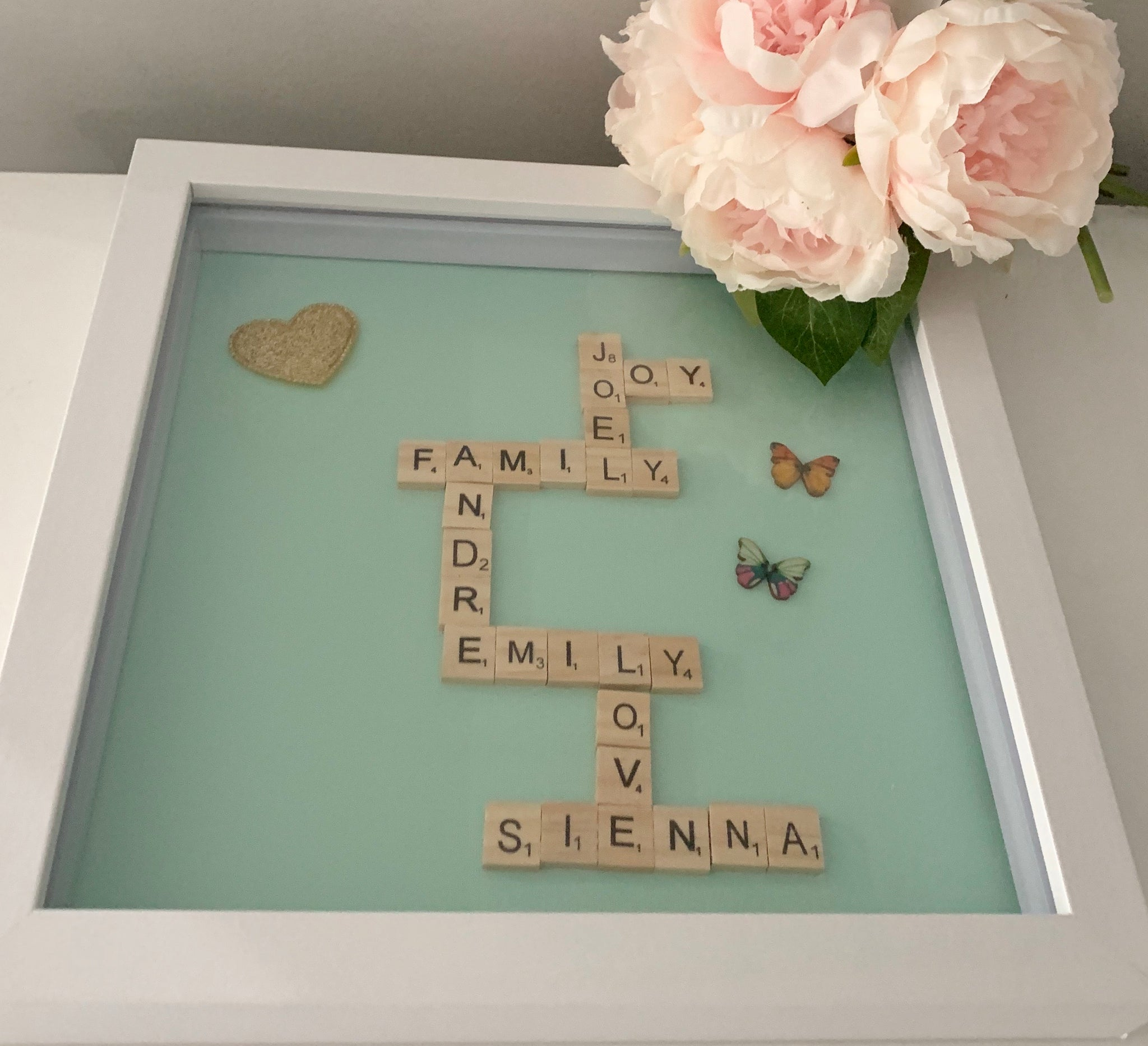 Family scrabble frames 12x12