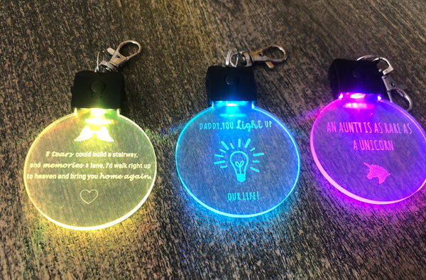 Led light keyrings