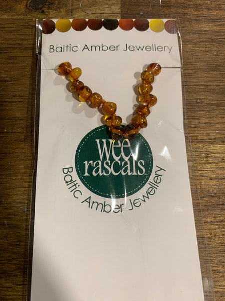 Amber infant anklet