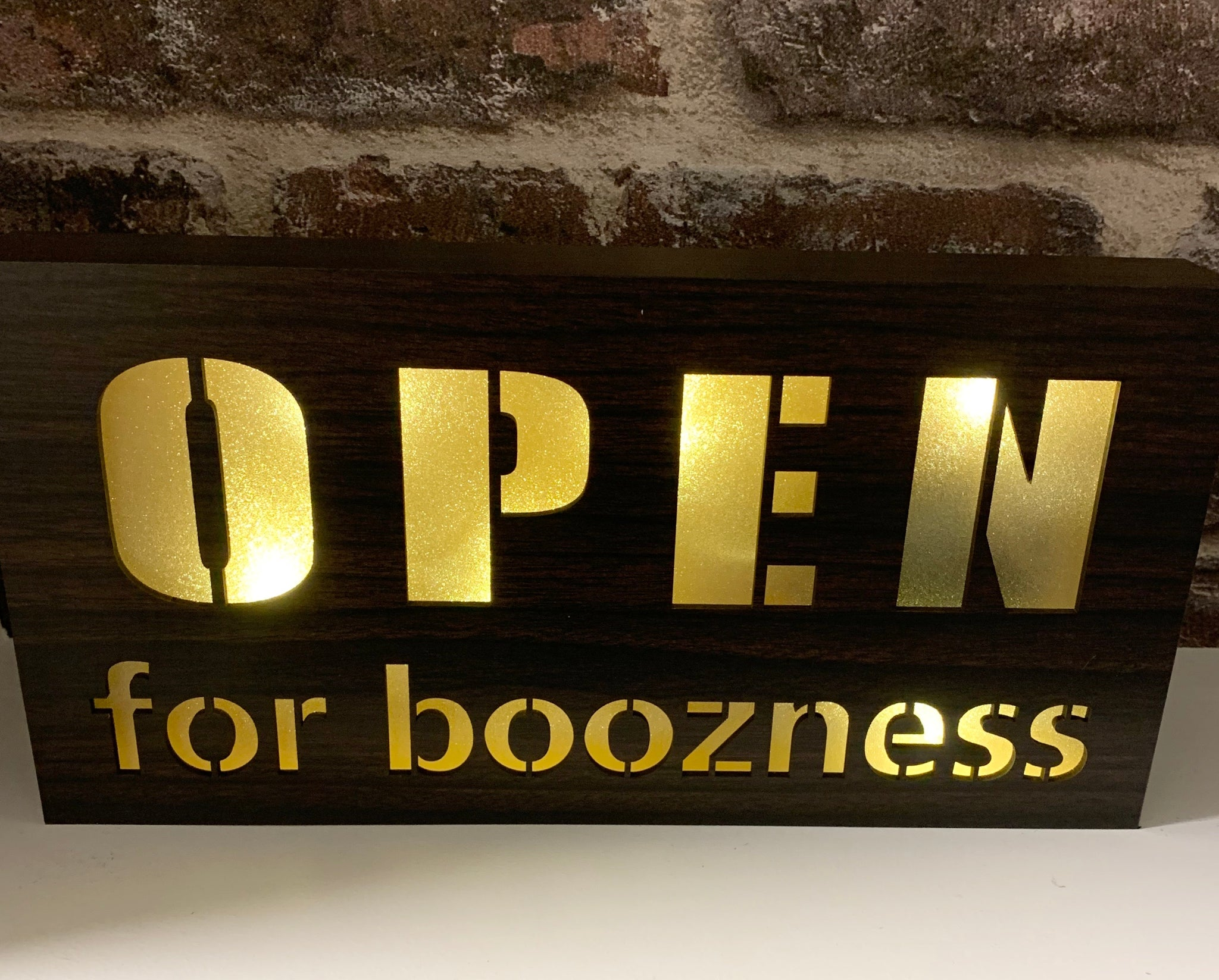Open for Boozness sign