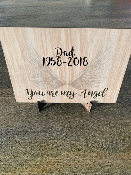 Angel post card mdf and stand