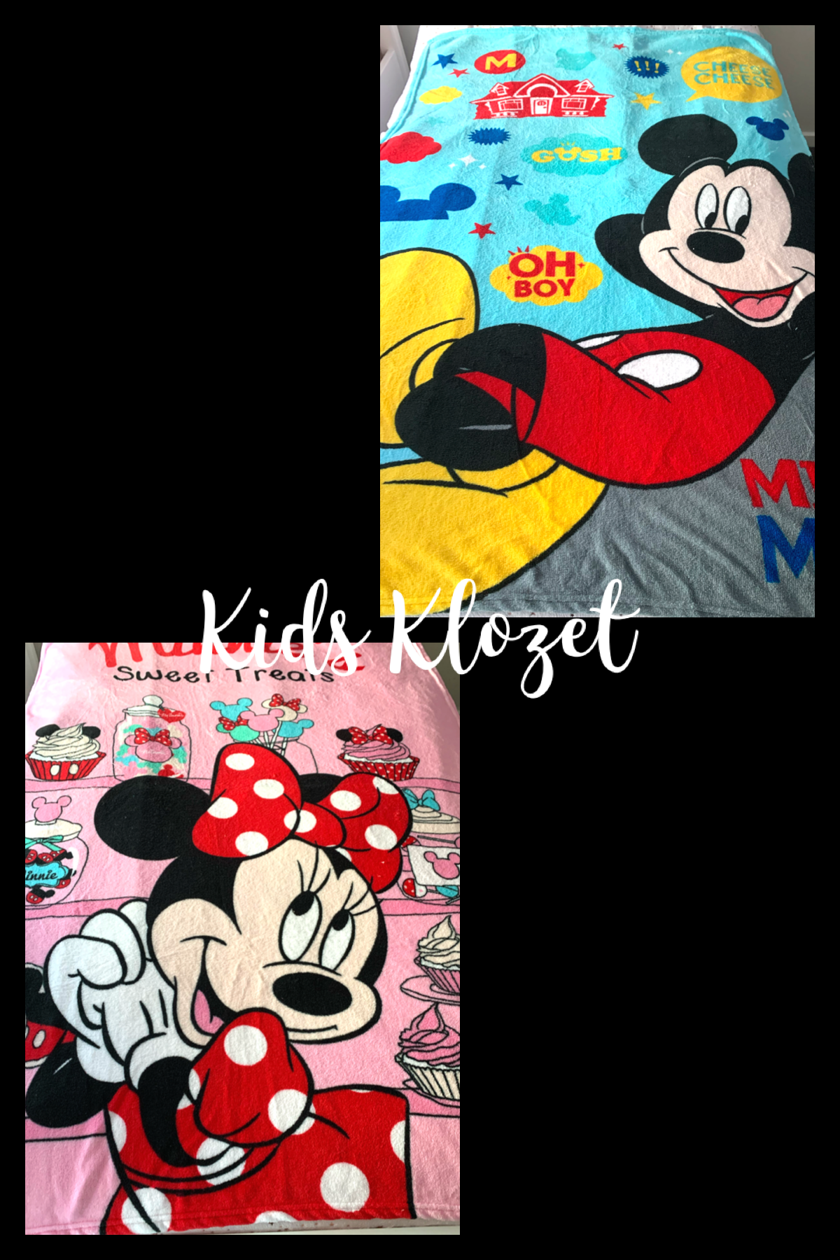 Minnie and Mickey throw blanket