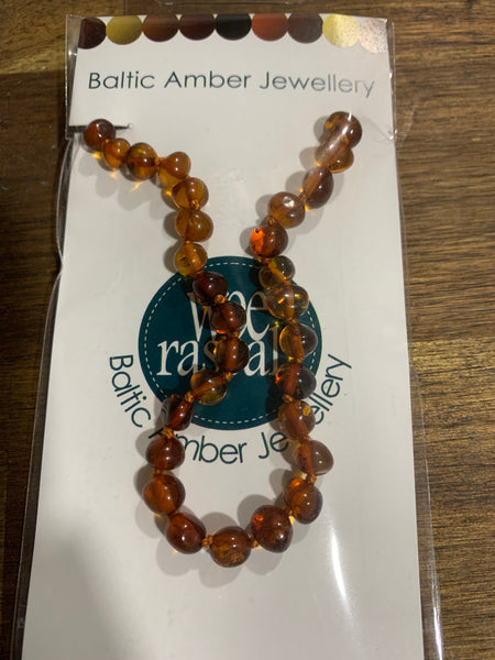 Amber infant necklace