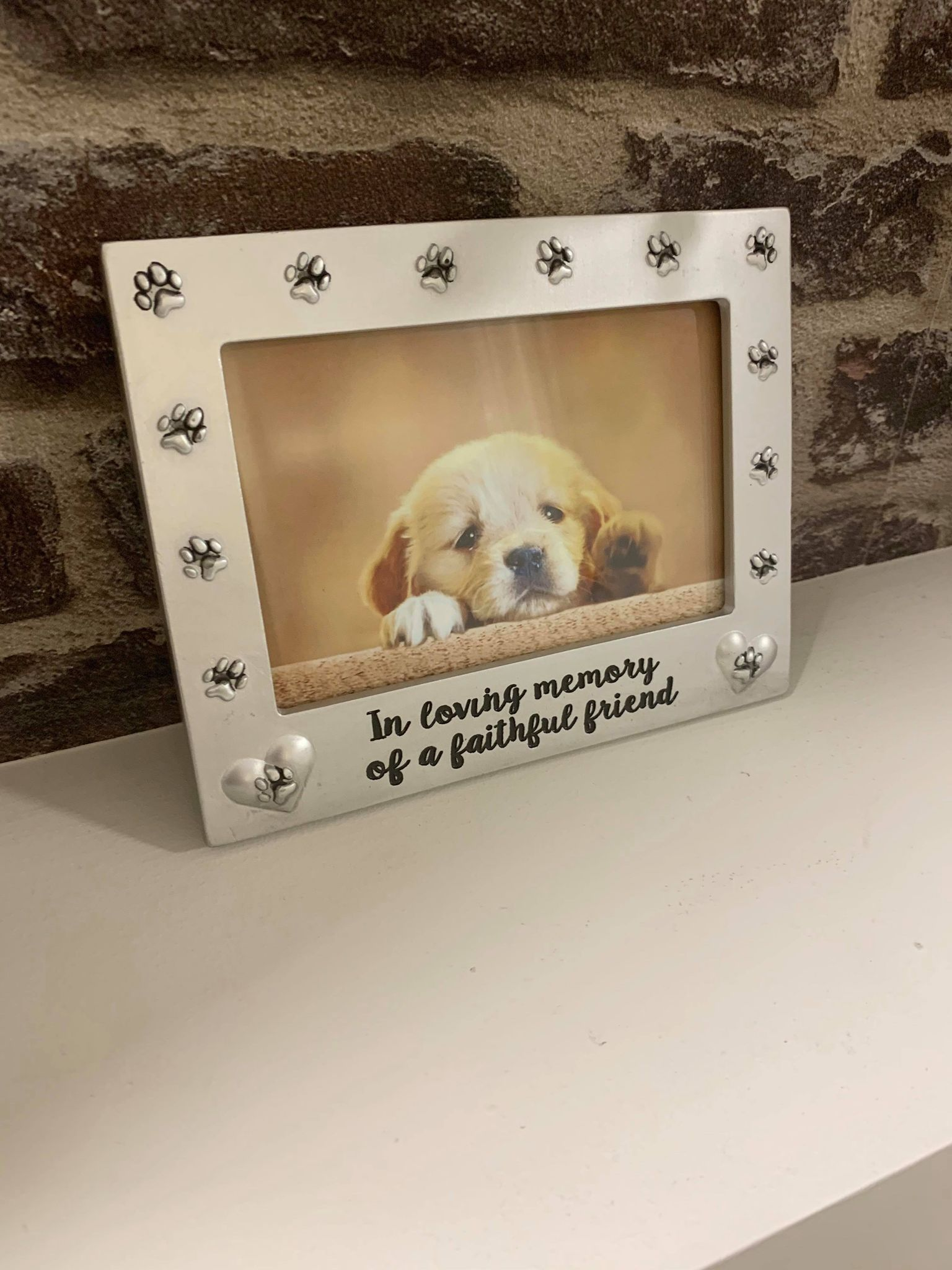 in loving memory paw frame