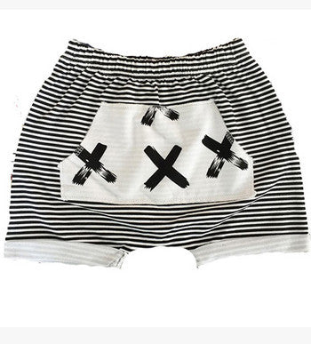 shorts cross and stripe