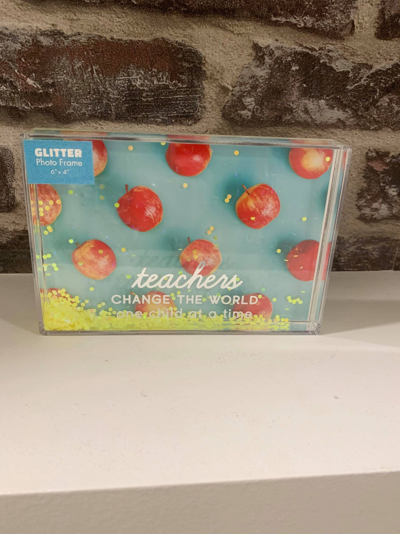 Glitter teacher block photo frame