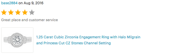 online store reviews for cubic zirconia rings
