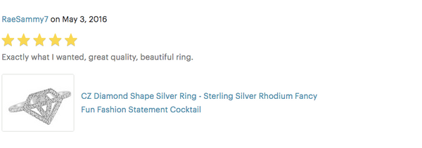 trendy diamond cut out shape fashion ring review
