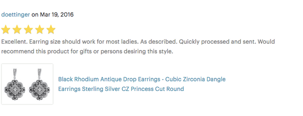 black rhodium cubic zirconia formal occasion drop earrings review