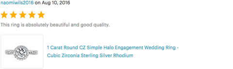 reviews of engagement rings silver