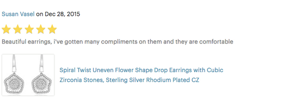 spiral flower twist drop earrings review