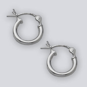10mm Hinged Small Hoop Earrings in Sterling Silver
