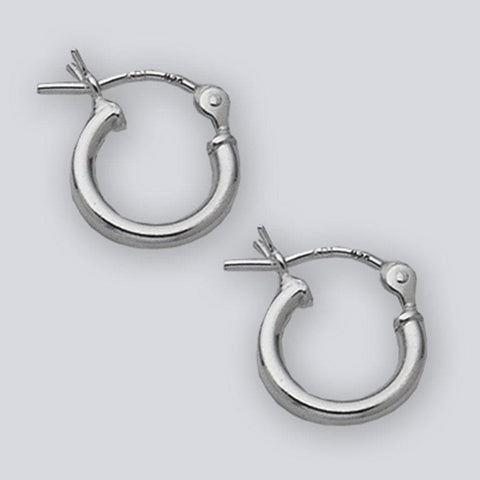 Earrings $12.58 10mm Hinged Small Hoop Earrings in Sterling Silver 10mm circle earrings hinged hoops