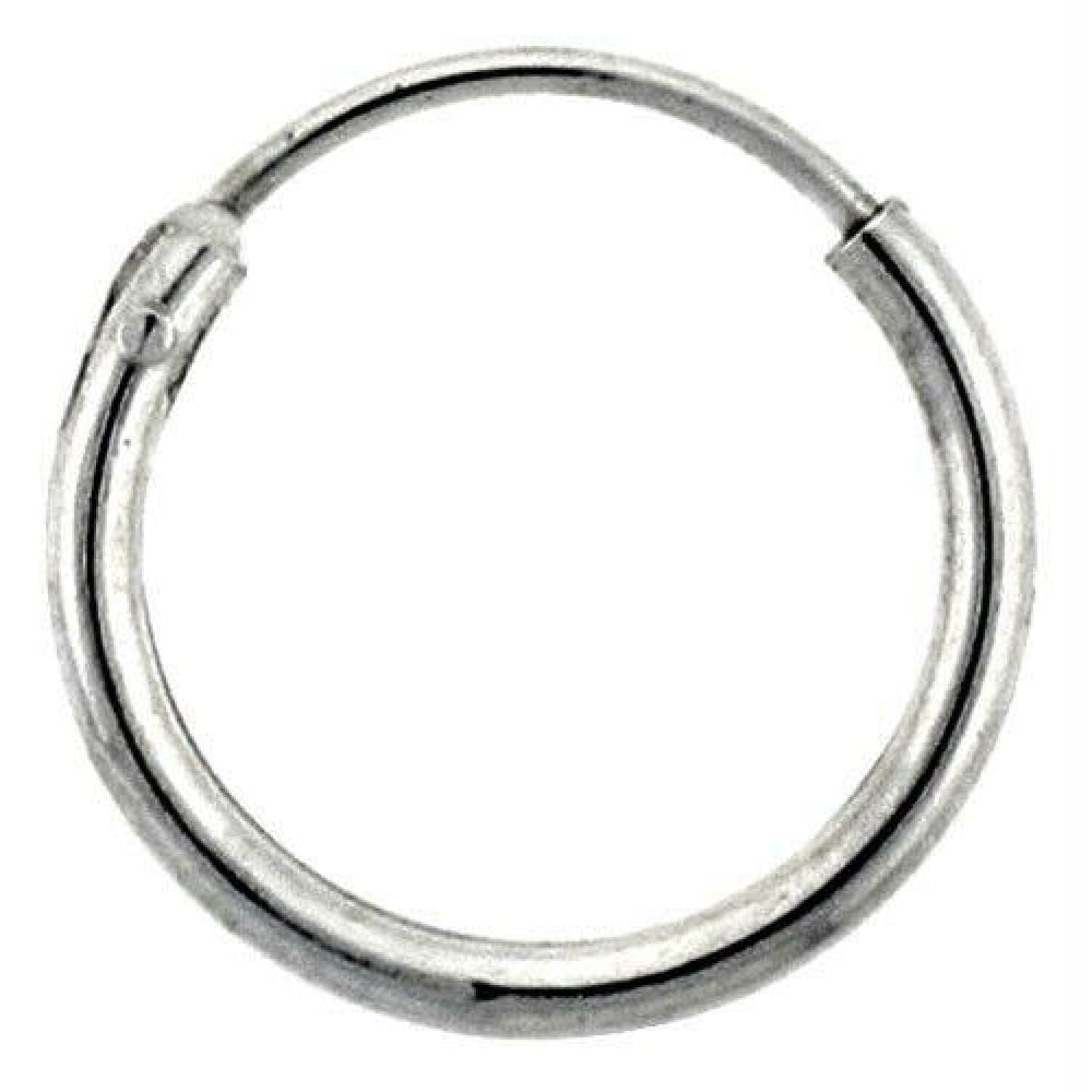 Earrings $9.43 12mm Endless Hoop Sterling Silver Earrings earrings hoop sterling silver