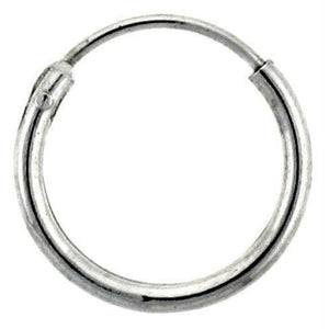 12mm Endless Hoop Sterling Silver Earrings