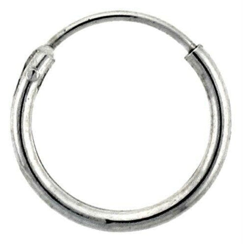 Image of Earrings $9.43 12mm Endless Hoop Sterling Silver Earrings earrings hoop sterling silver