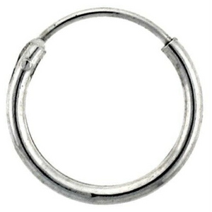 Earrings $9.43 12mm Endless Hoop Sterling Silver Earrings earrings hoop size-sterling-silver sterling silver under-25