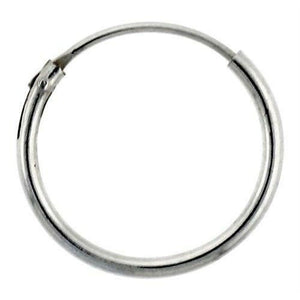 14mm Endless Hoop Sterling Silver Earrings