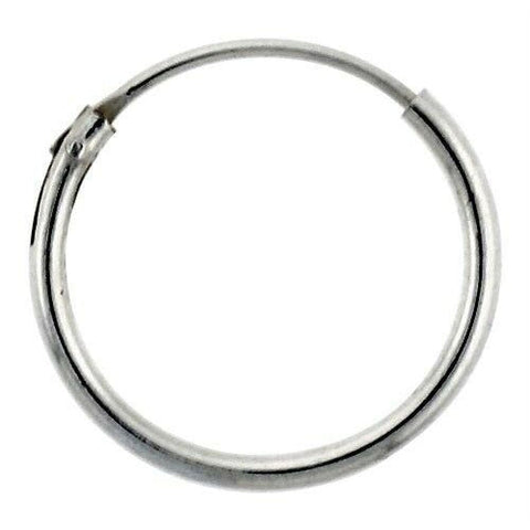 Earrings $8.17 14mm Endless Hoop Sterling Silver Earrings earrings hoop sterling silver