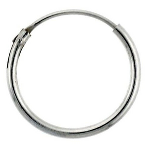 Earrings $8.17 14mm Endless Hoop Sterling Silver Earrings earrings hoop size-sterling-silver sterling silver under-25