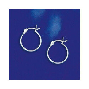 14mm Hinged Small Hoop Earrings in Sterling Silver 2012