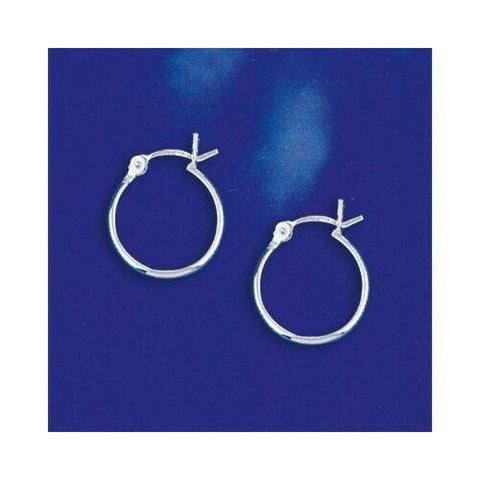 Image of Earrings $14.26 14mm Hinged Small Hoop Earrings in Sterling Silver 2012 14mm circle earrings hinged hoops