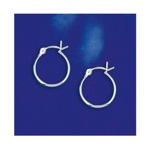 Earrings $14.26 14mm Hinged Small Hoop Earrings in Sterling Silver 2012 14mm circle earrings hinged hoops