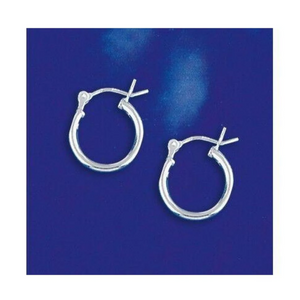 Earrings $16.15 14mm Hinged Small Hoop Earrings in Sterling Silver 14mm circle earrings hinged hoops