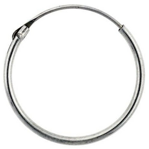 Earrings $9.64 18mm Endless Hoop Sterling Silver Earrings earrings hoop size-sterling-silver sterling silver under-25
