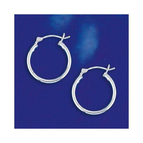 Image of Earrings $20.14 20mm Hinged Hoop Earrings with 1.7mm Tubing in Sterling Silver 20mm circle earrings hinged hoops