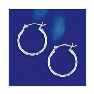Earrings $20.14 20mm Hinged Hoop Earrings with 1.7mm Tubing in Sterling Silver 20mm circle earrings hinged hoops