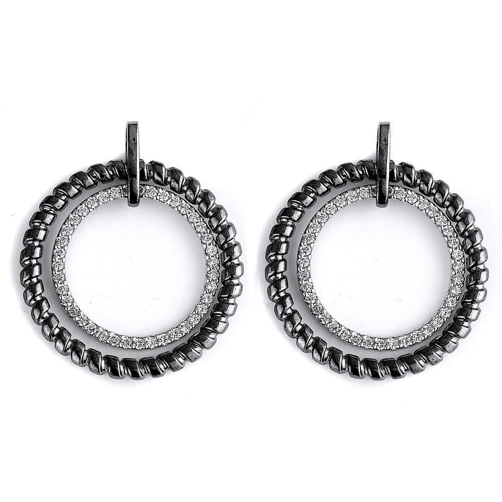 Earrings $220.00 Designer Round Circle Cubic Zirconia Drop Earrings Drop Formal Earrings Formal Occasion