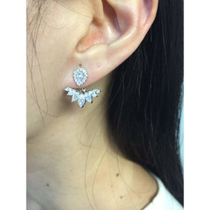 Marquise and Pear Cubic Zirconia Earrings Jacket