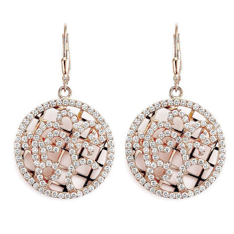 Earrings $240.00 Ornate Design Leverback Disc Drop Earrings Formal Earrings