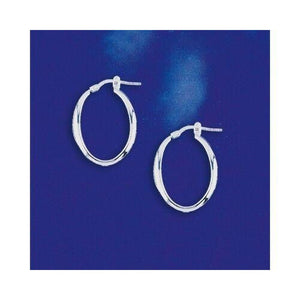 Oval Shaped Fancy Italian Hinged Hoops in Sterling Silver