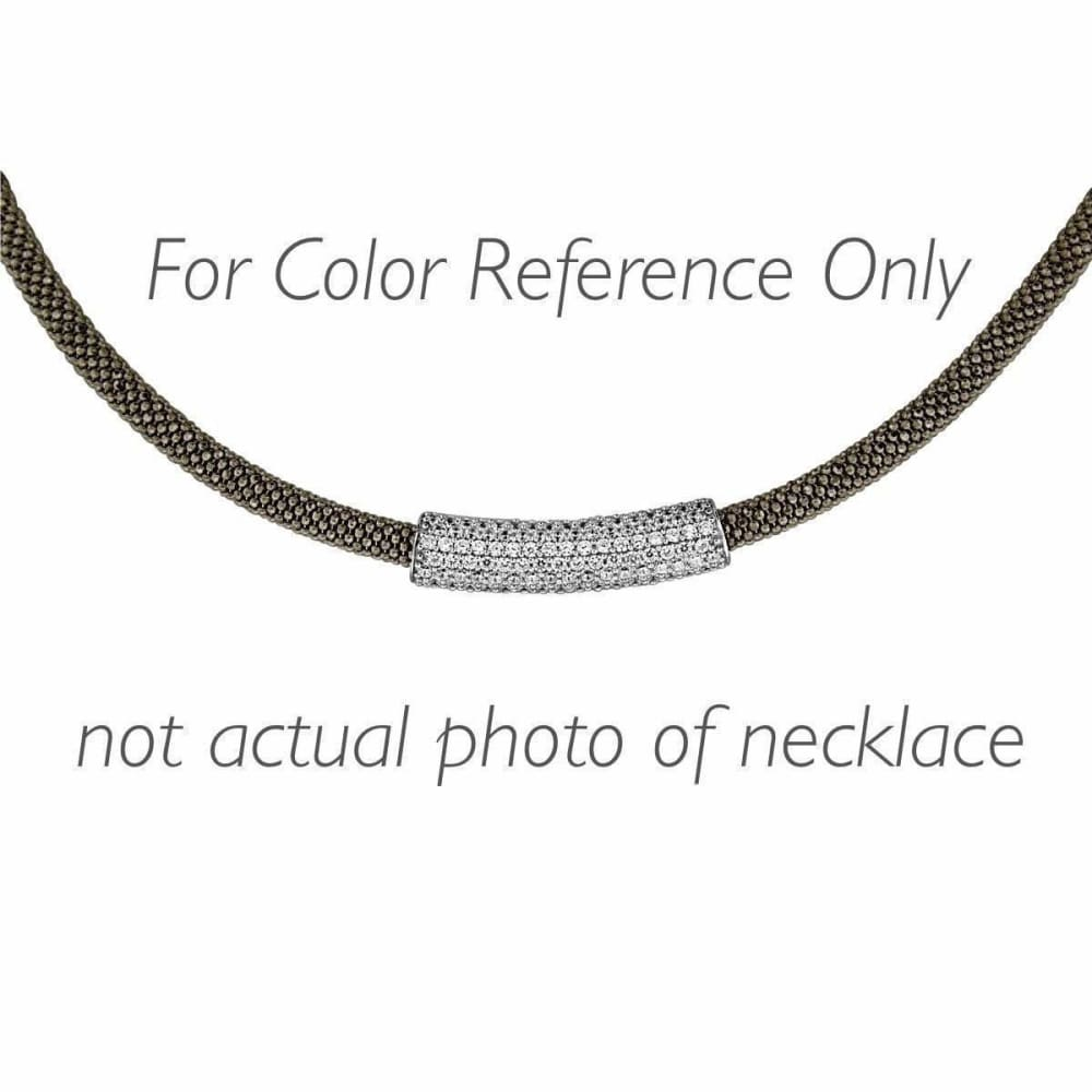 Necklaces $492.00 7 Bead Mesh Necklace - Pave Set Cubic Zirconia Formal Occasion Mesh