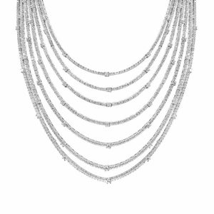 Necklaces $844.00 7 Strand Sparkling Cubic Zirconia Necklace Big Formal Occasion