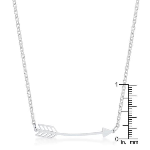 Image of Necklaces $22.50 Arianna Rhodium Stainless Steel Arrow Minimalist Layering Necklace arrow necklaces steel under-25