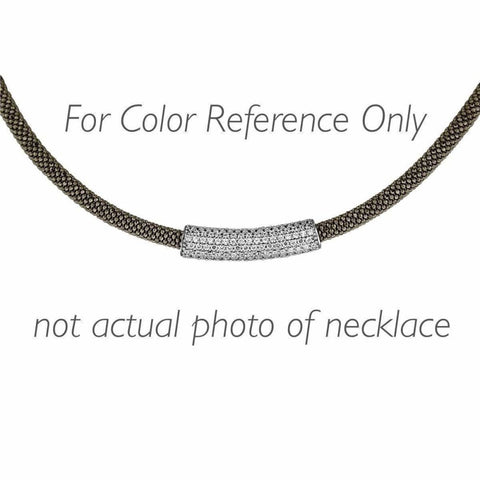 Image of Necklaces $500.00 Italian Mesh Necklace With 3 Cubic Zirconia Beads (14K Yellow Gold) Big Formal Occasion Mesh