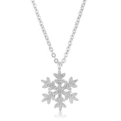 Necklaces $30.00 Jenna Rose Gold Stainless Steel Rose Gold Snowflake Necklace 25-50 necklaces rg steel