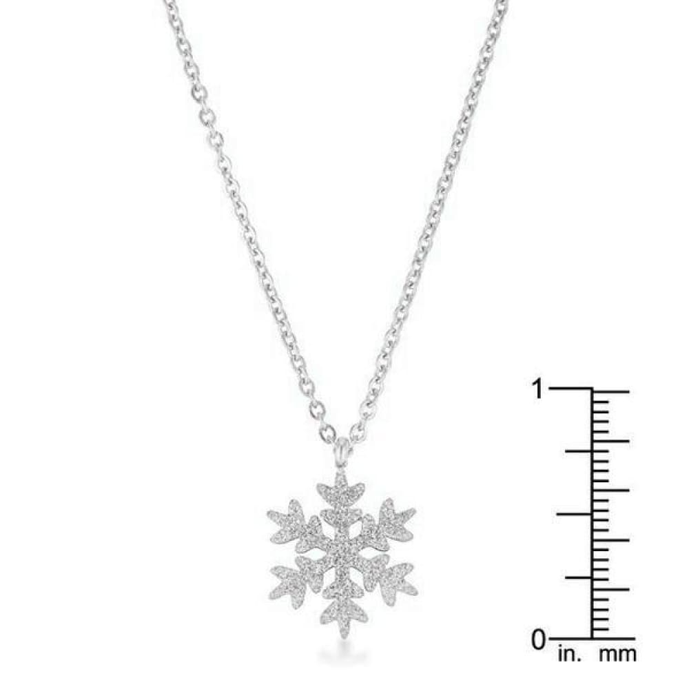Necklaces $25.00 Jenna Stainless Steel Silvertone Snowflake Necklace 25-50 necklaces steel under-25