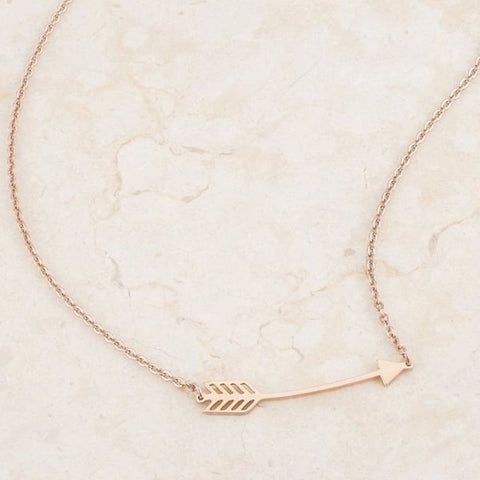 Image of Necklaces $23.75 Minimalist Rose Gold Stainless Steel Arrow Coachella Bohemian Necklace arrow necklaces rg steel under-25