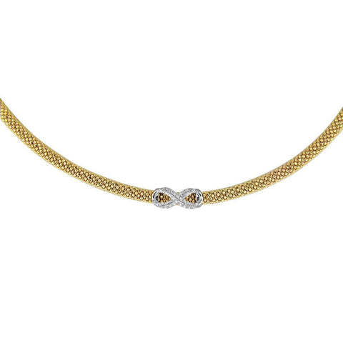 Necklaces $316.00 Small Cz Infinity Pendant On Italian Mesh Necklace Formal Occasion Mesh